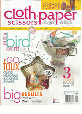CLOTH PAPER SCISSORS , MAY / JUNE, 2013   ISSUE 48  (  PUT A BIRD ON IT !  )