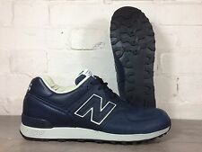 Men's New Balance 576cnn UK Taglia 9 Blu Scuro Scarpe Da Ginnastica in Pelle Made in England