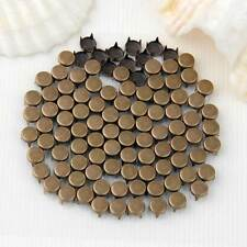 100 Bronze Round Rivet Studs Spike Spots Punk for Leather Belt Craft Bag
