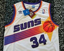 NWT NBA Charles Barkley STITCHED Throwback Jersey 34 Phoenix Suns WHITE SIZE L