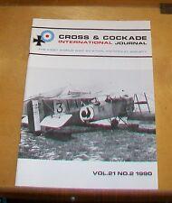 CROSS & COCKADE GREAT BRITAIN JOURNAL VOL 21  No 2 1990 BREGUET 14 NAVAL AIRMAN