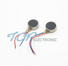 2PCS Coin Flat Vibrating Micro Motor DC 3V 8mm For Pager and Cell Phone Mobile
