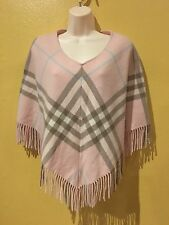 Authentic BURBERRY LONDON Wool/ Cashmere Blend Nova Check Poncho  -  One Size