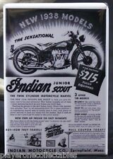 "The 1938 Indian Junior Scout - 2"" X 3"" Fridge Magnet. Motorcycle Advertising"