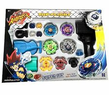 Beyblade Metal Fusion Masters Fight Launcher Rare Gift Toy Set 4D *USA Seller*