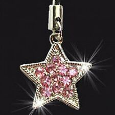 PINK STAR SET WITH CRYSTALS PHONE BAG CHARMS CHARM