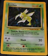 Holo Foil Scyther # 10/64 Original Jungle Set Pokemon Trading Cards Rares SP