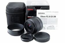Sigma EX 19mm f/2.8 EX DN Lens Sony E mount Excellent+++ Free Shipping 154875
