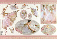 Rice paper Scrapbook Sheets Dancers Ballet