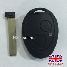 ROVER MG BMW MINI ONE COOPER R50 ZT ZR 75 2 BUTTON REMOTE KEY FOB CASE BLADE