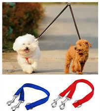 Nylon Double Lead Coupler Twin Dog Two Pet Dogs Walking Duplex Leash Splitter