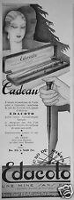 PUBLICITÉ 1930 EDACOTO PORTE MINE FRANÇAIS - ADVERTISING
