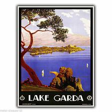 LAKE GARDA ITALY Vintage Retro Travel Advert METAL WALL SIGN PLAQUE poster print