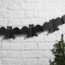 Happy Halloween CARTA PARTY Spettrale Nero BAT Da Appendere Ghirlanda Decorazione 3 METRI