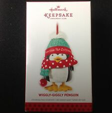 HALLMARK 2013 KEEPSAKE CLUB EXCLUSIVE ORNAMENT - WIGGLY-GIGGLY PENQUIN - MIB