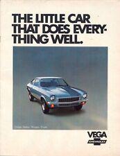 Chevrolet Vega 1972 Usa Mercado folleto de ventas