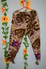 vintage 80s enrico coveri  great print  cropped trousers festival hipster