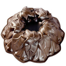 Nordic Ware 85948 Harvest Leaves Bundt Baking Pan, 9 cup