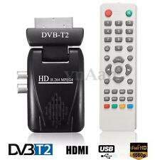 Decorder Digitale DVB-T2 1080P SCART Terrestre Ricevitore TV BOX USB SD HDMI IR