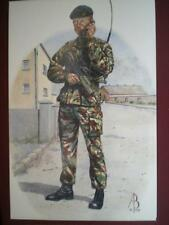 POSTCARD 1ST BTN QUEENS LANCASHIRE REGIMENT - MAJOR - N IRELAND 1992 ALIX BAKER
