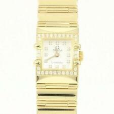 Authentic OMEGA  Constellation Carre YG D 12P Quartz  #260-001-610-9704