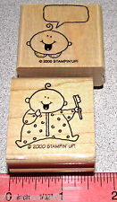 Stampin Up Baby Firsts Stamp Single Baby First Tooth Brushing Teeth Child Words