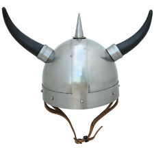 Ceremonial Viking Horned Medieval Celebration Helmet