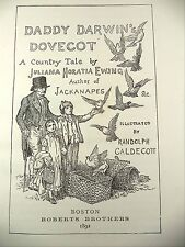 Antique Book Daddy Darwin's Dovecot Country Tale Juliana Ewing 1892 Caldecott