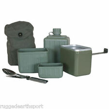 Yugoslavian Military Canteen & Mess Kit Combo Great for Camping or Hiking + KFS