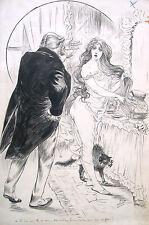 Alexis Vallet *1869 Verriéres Charentes / Tuschezeichnung Illustration 1900