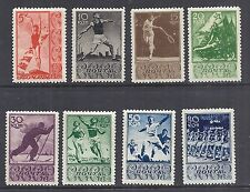 1938 Russia Sports - 698-705 / 657-664 MH - Tennis, Running, Discus, Diving*