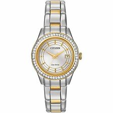Citizen Eco-Drive Women's FE1124-58A Silhouette Crystal Two-Tone Bracelet Watch