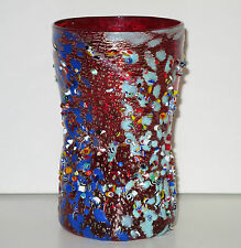 Signed Murano Zecchin Millefiori Murrine Art Glass Vase.