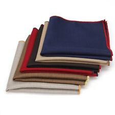 New Lot 6 Pcs Classic Men's Pocket Square Solid 100% Cotton Handkerchief Hankies