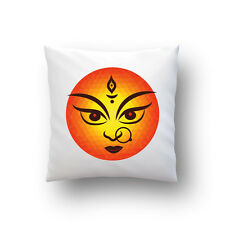 Navratri Special 2(Durga Face in Curcle) Digital Printed Cushion Cover (16X16)
