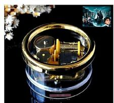 Circle  Gold Wind Up Music Box : Prologue Harry Potter HedwigsTheme