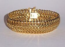 Vintage 18K Solid Yellow Gold Bangle Serpentine BRACELET Made in Italy