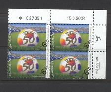 Israel 2004/50 años de la placa de la UEFA de fútbol negro (n19677)