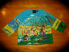 MICHAEL SIMON RARE SUNDAY AFTERNOON GRANDE JATTE SEURAT IMPRESSIONISM SWEATER XL