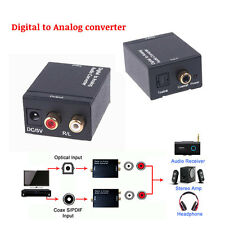 Digital Coaxial / Toslink / Optical to Analog R+L / 2RC / RCA Audio Converter