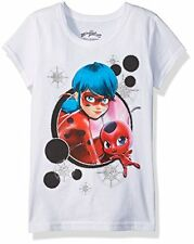 Evy Little Girls' Miraculous LadyBug Tikki Graphic Cotton Tee T-Shirt 4 NWT