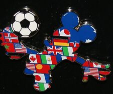 Disney Parks DLR FIFA WORLD CUP FLAGS 2014 Mickey Mouse Soccer Pin