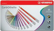 Stabilo CarbOthello x 60 chalk pastel crayon pencils color art dessin sketch lot