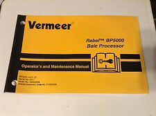 105400X36 - Is A New Maintenance Manual For A Vermeer BP5000 Bale Processor