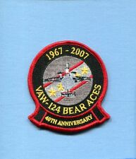 VAW-124 BEAR ACES 40th ANNIVERSARY US NAVY GRUMMAN E-2 HAWKEYE Squadron Patch