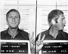 New! Steve McQueen Mug Shot 8x10 Fine Art Print Poster Home Wall Decor 3445