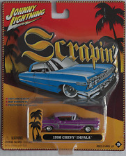 Johnny Lightning -'58/1958 Chevy Impala Custom Viola/Lilla Nuovo/Scatola Originale