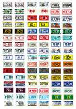 1:24 1:25 scale model semi truck apportioned miniature license plates tags