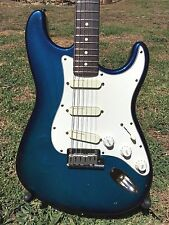1992 Fender Stratocaster Plus Deluxe Blue Burst Transparent American