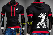 Anime Fairy Tail Natsu Casual T-shirt Unisex Hoodie Slim Fit Tee Tops#VX-C20
